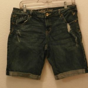 JUSTICE JEANS shorts kids girls Size 16 1/2